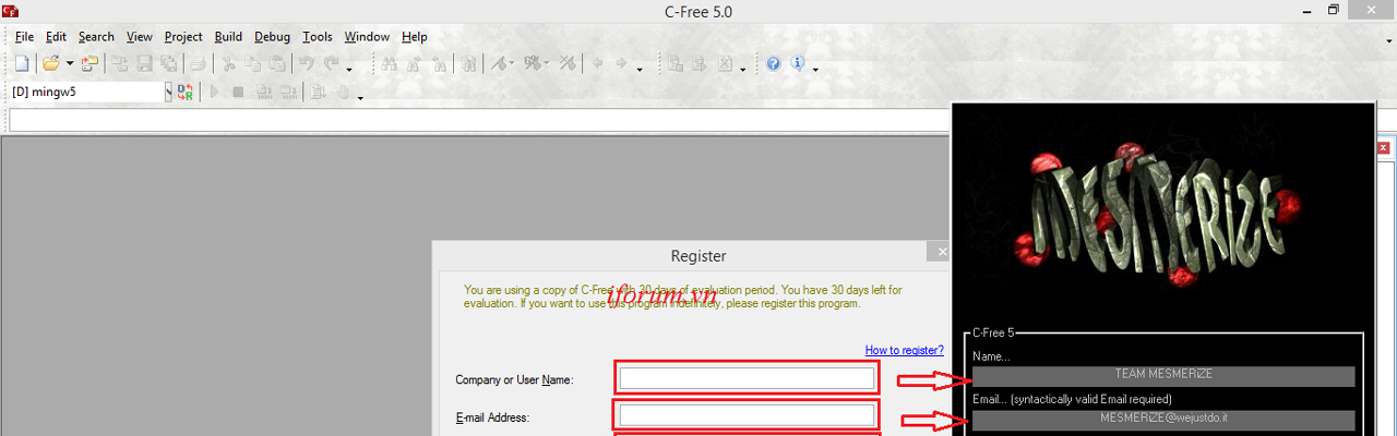 c free 5.0 full crack keygen